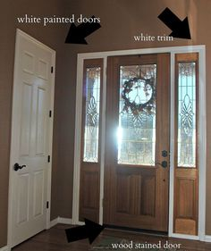 Front Door Makeover: From Stain to Paint