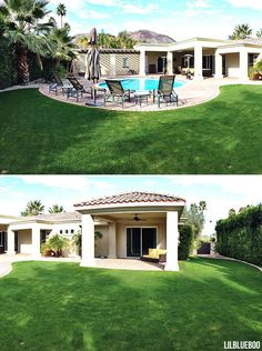 Before and After Photos of an AMAZING home renovation / and landscape makeover