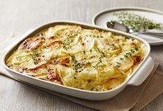 Who said potato bake? Dig in quick – this one won't last long. Camembert Recipes, Baked Camembert, Vegetable Recipes, Vegetarian Recipes, Baked Vegetables, Veggies, Easy Eat, Potato Dishes, Vegetable Dishes