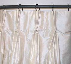 how to hang pinch pleated drapes with clip rings