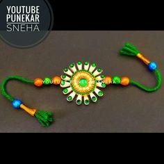Easy and Beautiful Rakhi for brother | Rakshabandhan 2020 | Rakhi Making ideas | By Punekar Sneha Rakhi For Brother, Rakhi Making, Making Ideas, Crochet Necklace, Easy, Crafts, Beautiful, Crochet Collar, Crafting