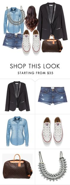 """""""Blazer negro"""" by paty-jose on Polyvore featuring H&M, Current/Elliott, Vero Moda, Converse, Louis Vuitton, women's clothing, women, female, woman and misses"""