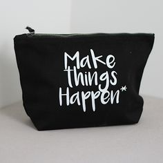 Gymspiration Wash Bag 'Make Things Happen' by SquiffyPrint on Etsy