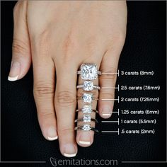 Princess Cut Ring Scale -- need one of these for round cut