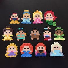 Disney Princess perler beads by Amie Allen