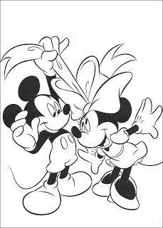 Desenhos para Colorir: Desenhos para colorir da Minnie