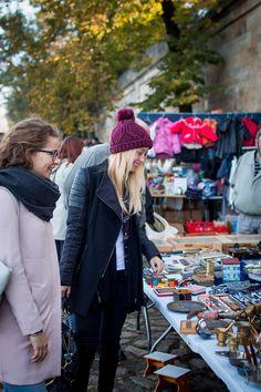 Luise auf dem Elbeflohmarkt - Shopping in Dresden