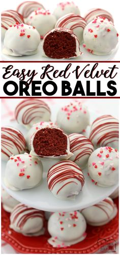 Red Velvet Oreo Balls made with just 3 ingredients & perfect for Valentine's Day! Made in minutes and so delicious, no one can guess they're made with Oreo cookies! If you've never made Oreo Balls, Oreo Balls Recipe 3 Ingredients, Oreo Truffles Recipe, Truffle Recipe, Cake Truffles, Valentine's Day Truffles Recipes, Butter Recipe, Best Oreo Ball Recipe, Valentine Truffles Recipe, No Bake Cookie Balls Recipe