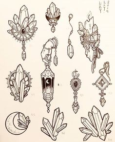 🌟New Tattoo Flash for sale tomorrow! Tattoo Drawings, Body Art Tattoos, New Tattoos, Small Tattoos, Cool Tattoos, Tattoo Sketches, Tatoos, Arte Bar, Crystal Tattoo