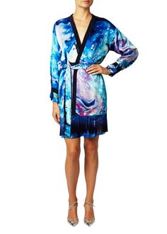 Buy Matthew Williamson Women's Blue Marble Satin Kimono Robe, starting at $682. Similar products also available. SALE now on!