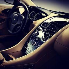 The Inside Of The Elegant Aston Martin! #love