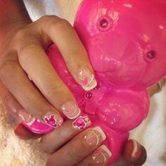 Judith leiber teddy bear clutch inspired nails