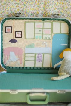 DIY Doll Suitcase Tutorial.  Seriously, so cute.