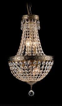 Crystal Empire Chandelier in antique nickel