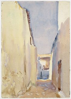 John Singer Sargent Tangier, 1895 Watercolor, gouache, and graphite on white wove paper Dimensions: 13 15/16 x 9 in. (35.4 x 22.9 cm) Metropolitan Museum of Art, NYC