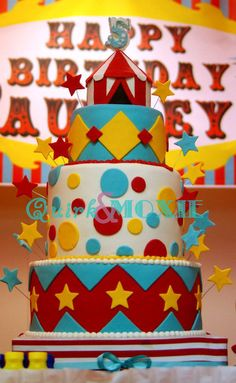 Carnival Cake - bolo circo colorido