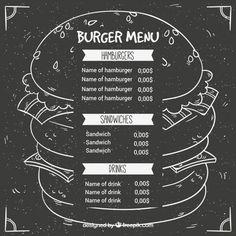 Menu Vectors, Photos and PSD files Logo Restaurant, Restaurant Design, Burger Branding, Pizza Box Design, Craft Burger, Hamburger Menu, Cafe Menu Design, Food Truck Menu, Grill Logo