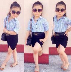Style rock girl kids fashion 54 ideas for 2019 Kids Dress Wear, Kids Gown, Dresses Kids Girl, Little Girl Outfits, Kids Outfits Girls, Cute Outfits For Kids, Little Girl Fashion, Cute Kids Fashion, Toddler Fashion