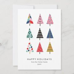 Painted Christmas Cards, Watercolor Christmas Cards, Christmas Card Crafts, Colorful Christmas Tree, Christmas Cards To Make, Noel Christmas, Christmas Card Designs, Button Christmas Cards, Happy Holidays Cards