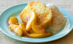 This moist peach pound cake is baked in a Bundt cake pan. The cake is made with chopped canned peaches. Peach Pound Cakes, Peach Cake, Coconut Upside Down Cake, Passion Fruit Mousse, Homemade Cake Mixes, Bundt Cake Pan, Bundt Cakes, Pineapple Cake, Pineapple Upside