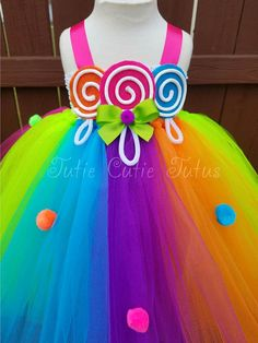 Items similar to Candyland Inspired Tutu Dress on Etsy Candyland, Candy Land Theme, Crochet Tutu, Rainbow Fairies, Tinker Bell Costume, Tinkerbell Fairies, Maquillage Halloween, Cute Bows, Rainbow Dash