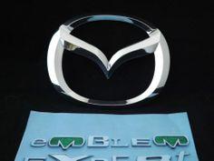 Mazda 3 Chrome Logo Emblem 2004-2009 Badge OEM Rear Bumper Trunk Liftgate  #Mazda
