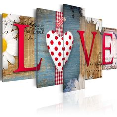 sallyhomey Diamond Embroidery Scenic Home Love Wall Sticker DIY Full Diamonds Painting Mosaic Pictures Home Decor Valentines Bricolage, Valentines Diy, Decoration Palette, Wood Crafts, Diy Crafts, Multi Picture, Mosaic Pictures, Wall Stickers 3d, Vinyl Decals