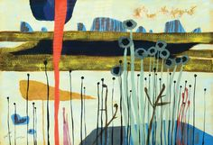 Yochanan Simon - Brazilian Landscape (1961), Gouache on paper, 35X50 cm.
