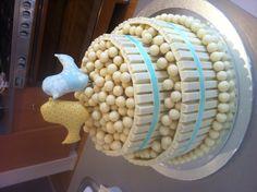 White chocolate kit kat & Malteser wedding cake