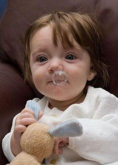Funny cute kid with runny nose
