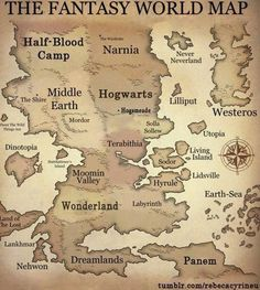 Fantasy World Map. I only know about half of these places.