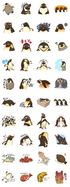 Penguin sticker for all penguin lovers is here!