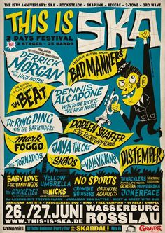 This Is Ska Festival 2015 @ Rosslau, Germany Tour Posters, Band Posters, Music Posters, The English Beat, Ska Music, Music Tours, Black Light Posters, All Band, Rude Boy