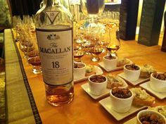 Macallan Whiskey Tasting and Food Pairings  I find scotch goes well with a high quality vanilla Cupcake. lol