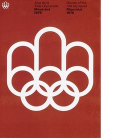 Poster, 1976 Summer Olympic games in Montreal.