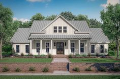 Traditional Style House Plan 56710 with 4 Bed 3 Bath 2 Car Garage – farmhouse plans Modern Farmhouse Plans, Industrial Farmhouse, Farmhouse Homes, Farmhouse Design, Farmhouse Style, Farmhouse House Plans, Southern House Plans, Southern Homes, Farmhouse Ideas
