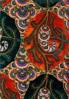 Credit: Central Press/Getty Images. The New Oxford Dictionary defines paisley as 'a distinctive intricate pattern of curved, feather-shaped figures based on a pine cone design from India'. This paisley shawl is believed to be from 19th century England.