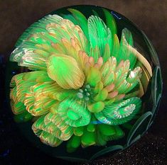 hand blown glass - green with envy <3