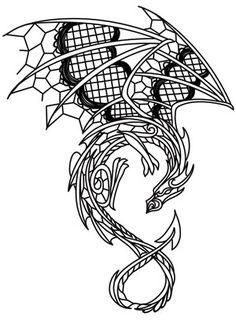 Dark Creatures - Dragon design (UTH11779) from UrbanThreads.com