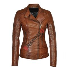 Carlo Sacchi T1 Brandi colour is a Slimfit Leather Jacket. The garment is made out of soft quality Lams Leather.  Visit our website www.nappato.nl