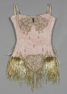 fashion-and-film: Details of Nicole Kidman's Pink Diamonds costume from the film Moulin Rouge..