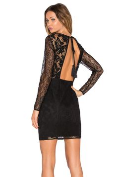 5899ae98fd Shop for Endless Rose Tassel Lace Dress in Black at REVOLVE. Free day  shipping and returns
