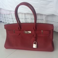 HERMES 42 cm Shoulder Birkin Jean Paul Gualtier Authentic HERMES 42 cm Shoulder Birkin in red by Jean Paul Gualtier LIMITED EDITION - barely been used, in perfect conditions. No scuffing or scratching - hardware is in good condition. 100% negotiable - comment if you have any questions! Hermes Bags