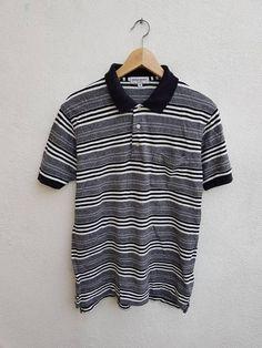 93dd5e0c Vintage 90s YSL Yves Saint Laurent Pour Homme Stripes Style Casual Men's  Pocket Polos Shirt Size M