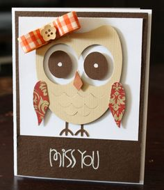 owl  - cards by alice carman using Lifestyle Crafts owl die