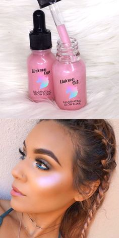 Makeup Ideas: Get the glow with Unicorn Oil complexion illuminator from www.glowcultcosme…… Makeup Ideas: Get the glow with Unicorn Oil complexion illuminator from www. Unicorn Makeup, Kiss Makeup, Love Makeup, Hair Makeup, Eyeshadow Makeup, Dark Eyeshadow, Eyeshadow Palette, Makeup Brushes, Younique Eyeshadow