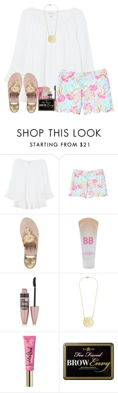 """I went to the Andy Grammar and Gavin DeGraw concert tonight!!!!"" by haileymartin12 ❤ liked on Polyvore featuring Velvet, Lilly Pulitzer, Jack Rogers, Maybelline and Too Faced Cosmetics"