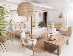 Interior Living Room Design Trends for 2019 - Interior Design Home Decor Bedroom, Interior Design Living Room, Living Room Designs, Living Room Decor, Dining Room, Bali Bedroom, Nature Bedroom, Beach Interior Design, Ibiza Style Interior
