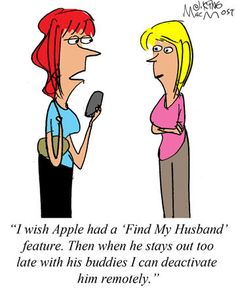 MacMost Cartoon: Find My Husband