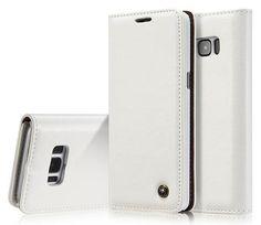 CaseMe Samsung Galaxy S8 Plus Business Style Magnetic Flip Wallet Case White
